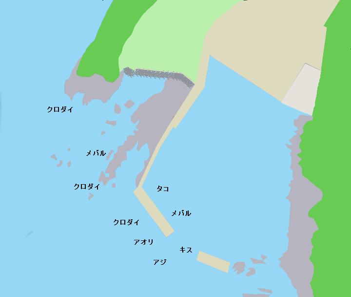 暮浜港ポイント図