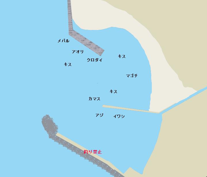 久留和港ポイント図