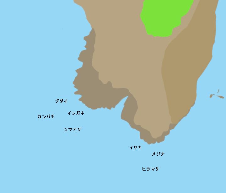 神津島港鏡穴ポイント図