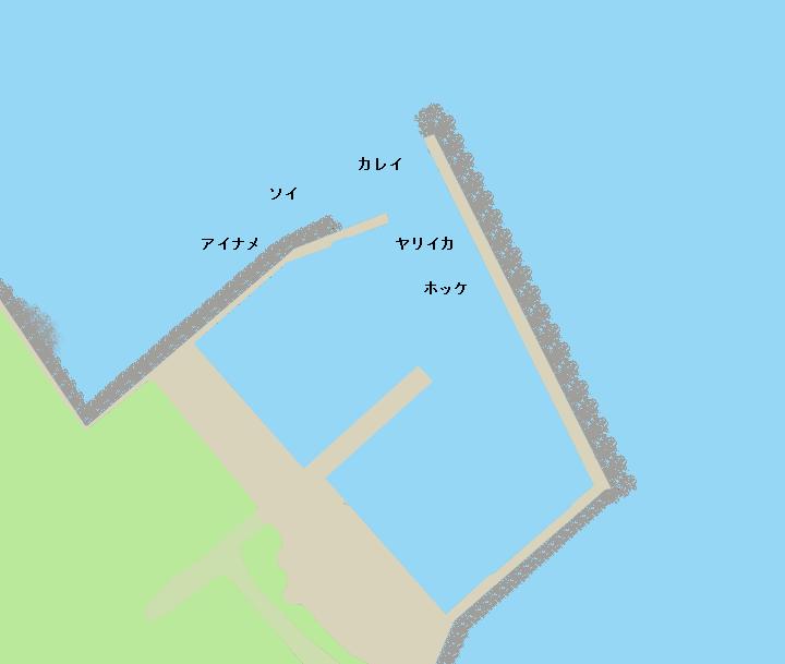 天売島前浜漁港ポイント図
