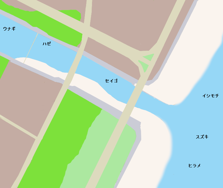 真亀川河口ポイント図