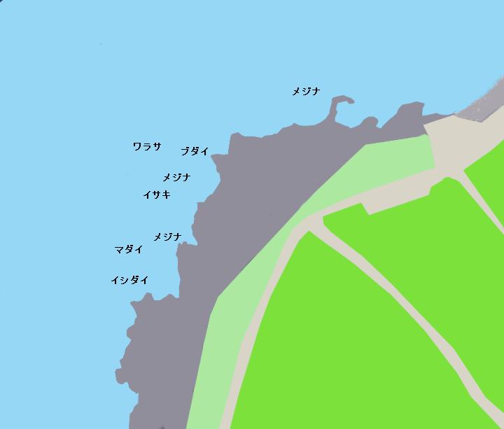 伊豆大島万立ポイント図
