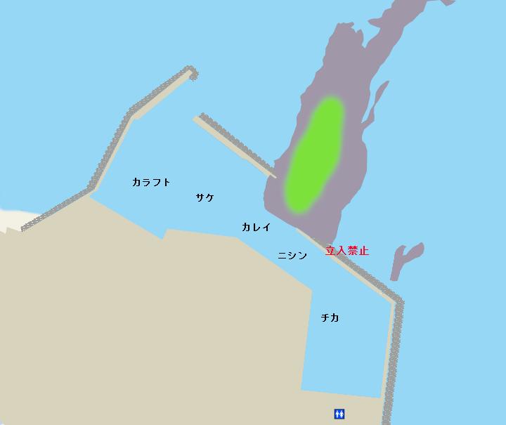 目梨泊漁港ポイント図