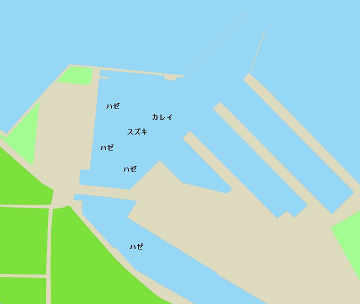 見立港ポイント図