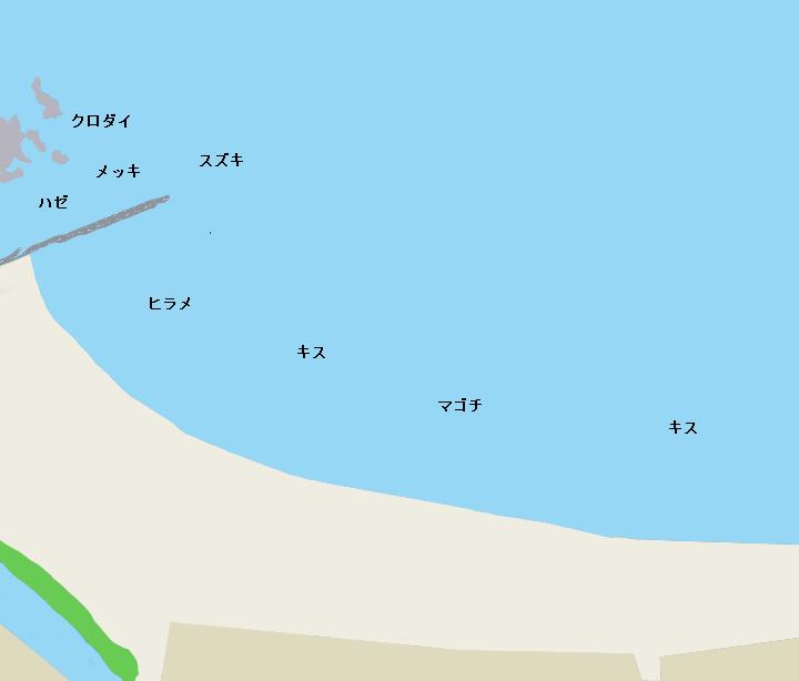 森戸海岸ポイント図