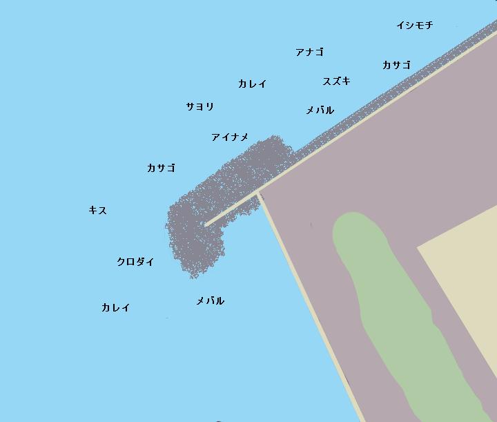 長浦港ポイント図