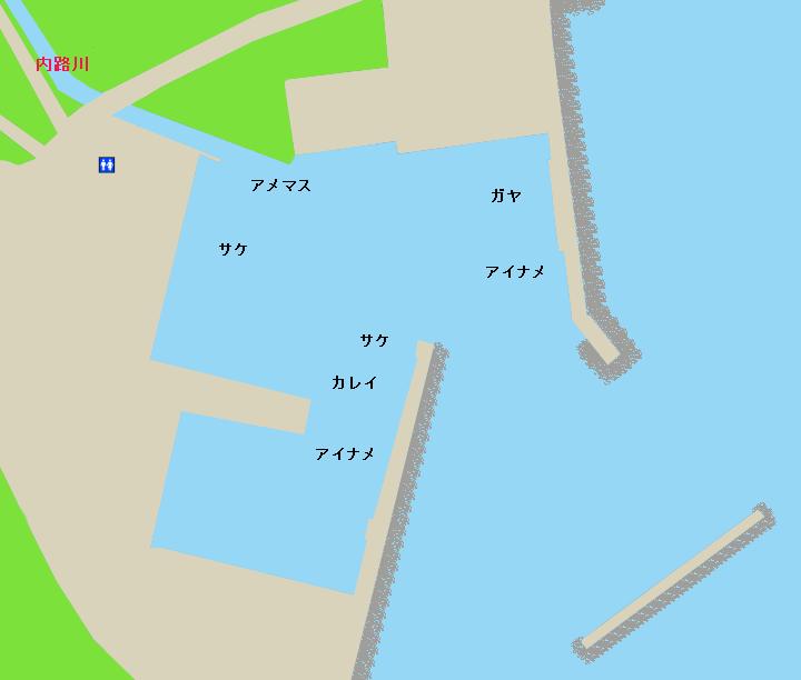礼文島内路漁港ポイント図