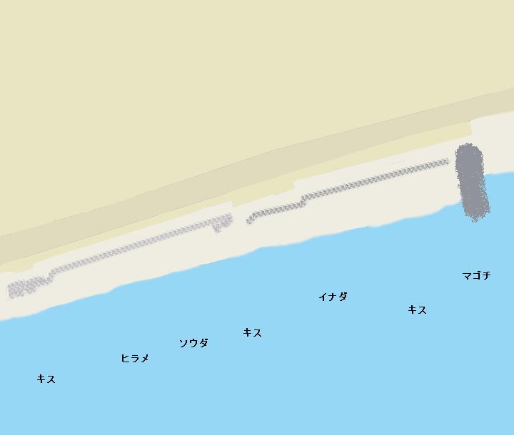 二宮海岸(袖ヶ浦海岸)ポイント図