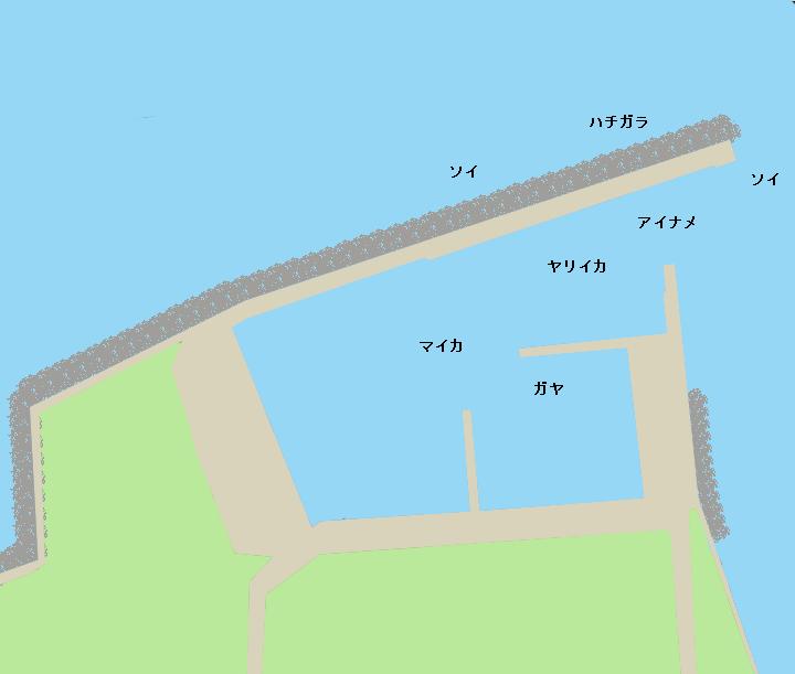 焼尻島西浦漁港ポイント図