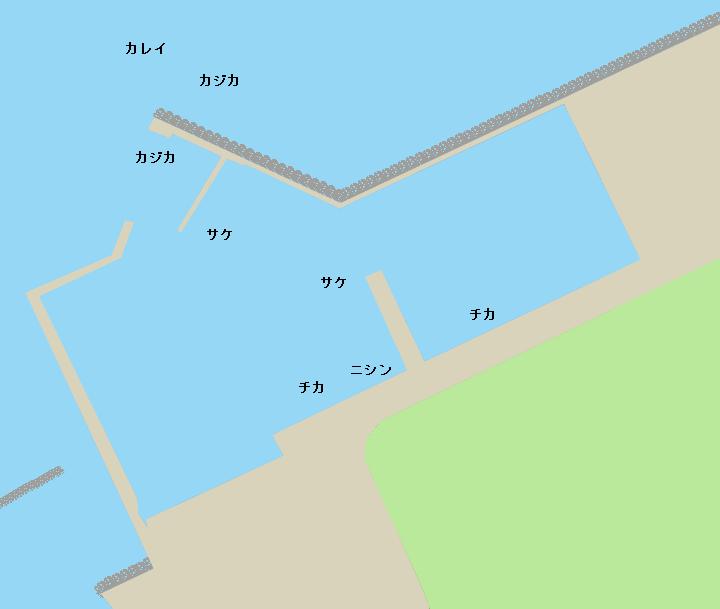 西稚内漁港ポイント図