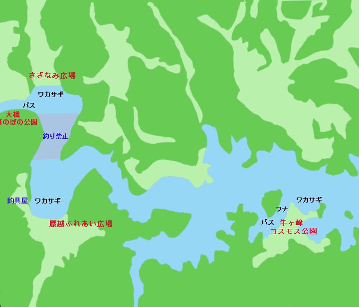 布目ダムポイント図