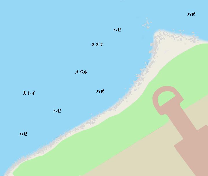 お台場海浜公園ポイント図