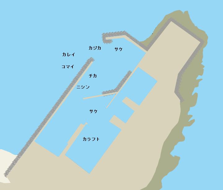 音標漁港ポイント図