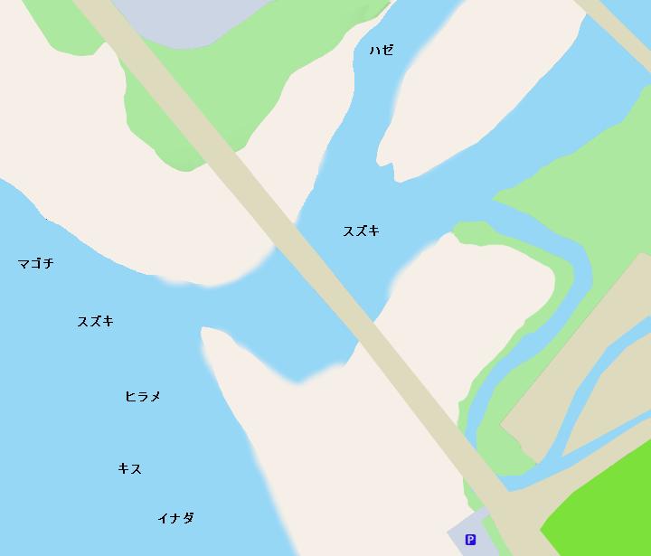 酒匂川河口ポイント図