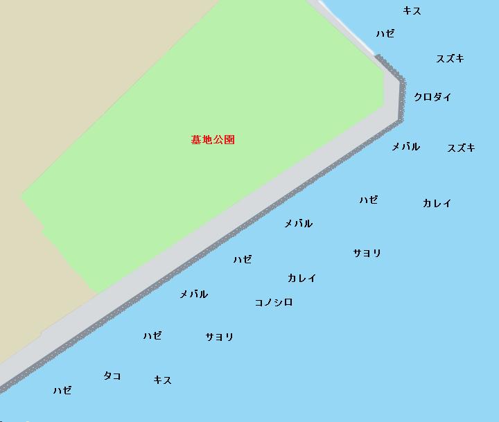 三番瀬沿い緑道ポイント図