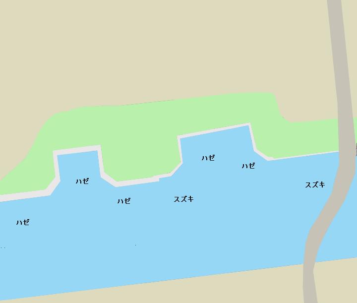 潮見さざなみ公園ポイント図