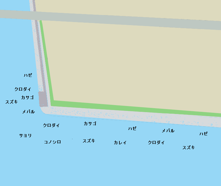 新木場緑道公園ポイント図