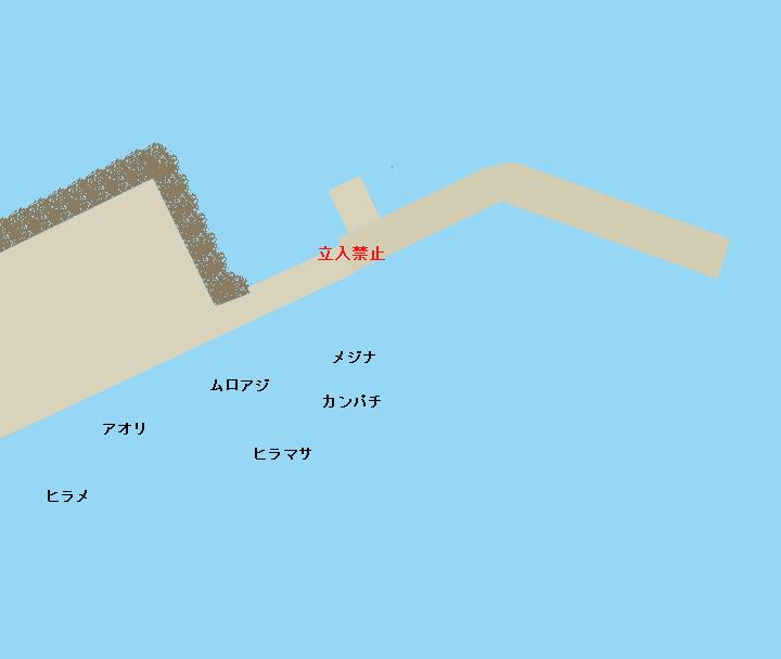 八丈島底土港