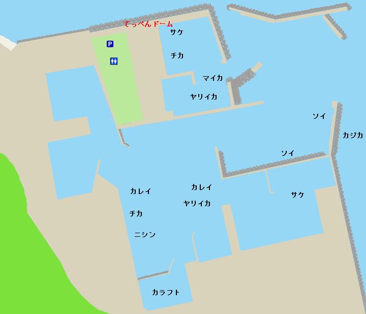 宗谷港ポイント図