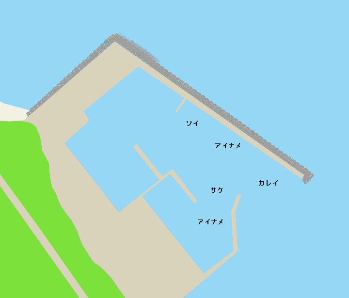 礼文島須古頓漁港ポイント図