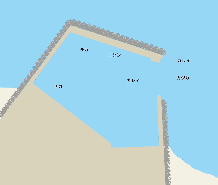 斜内漁港ポイント図