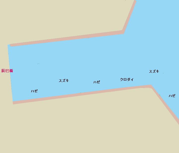 辰巳運河辰巳橋周辺