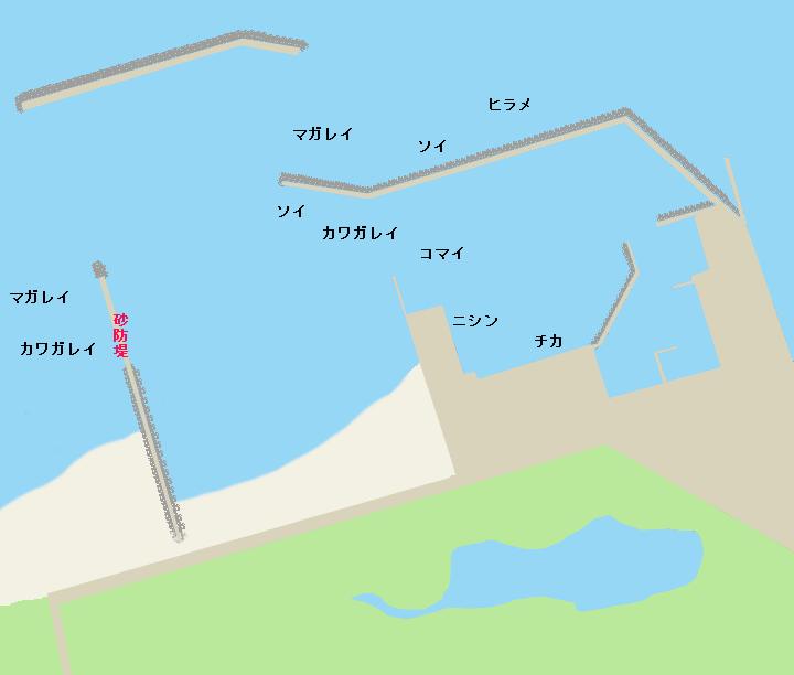 天塩港ポイント図
