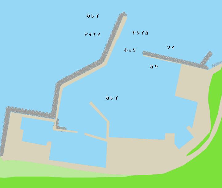 天売島天売港ポイント図