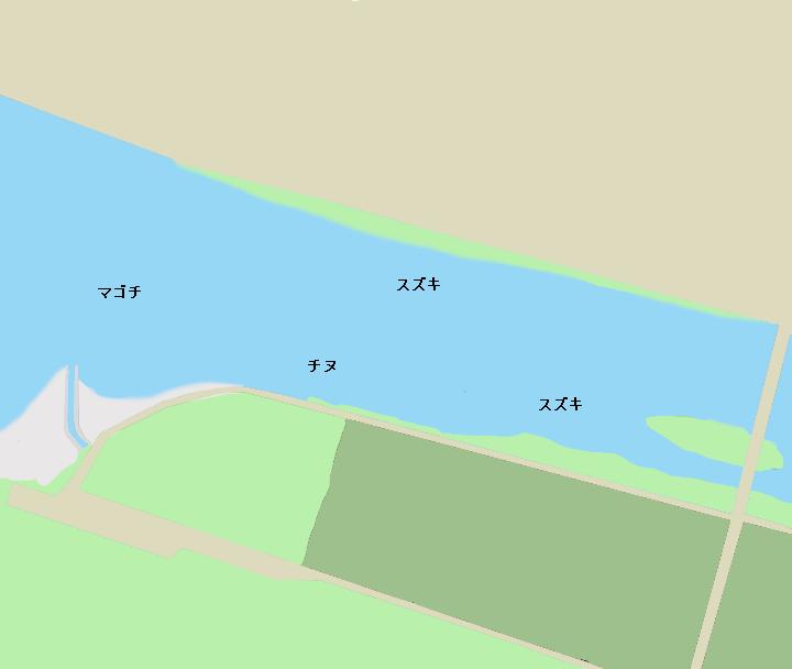 千種川河口ポイント図