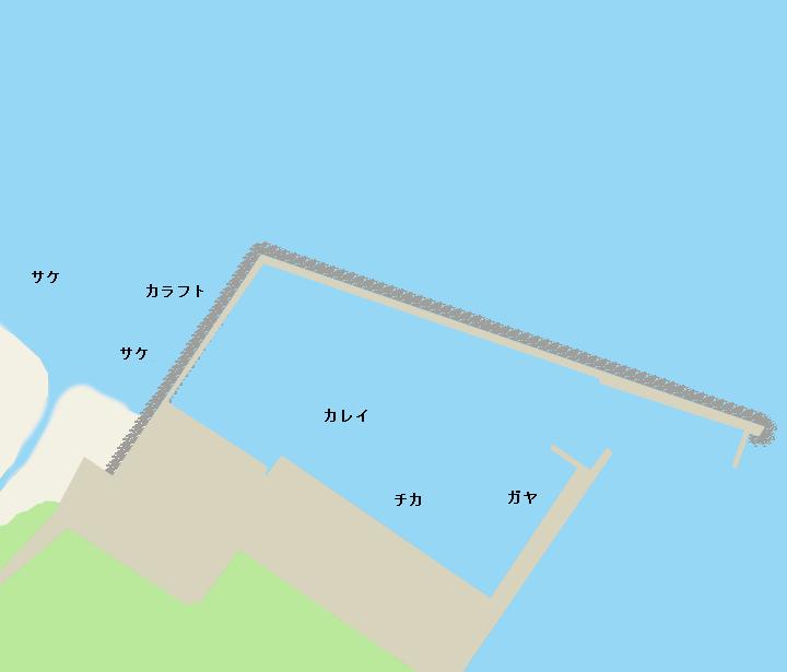 問牧漁港ポイント図