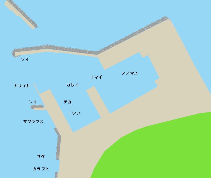富磯漁港ポイント図