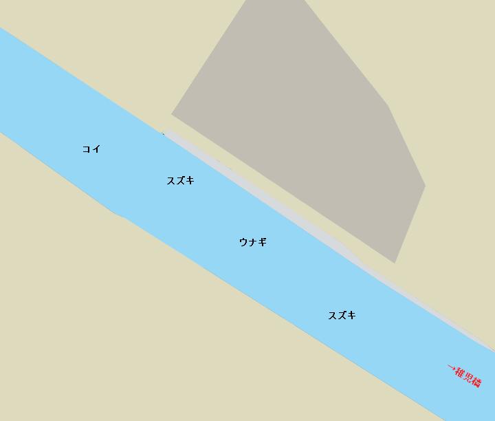 巴川稚児橋周辺ポイント図