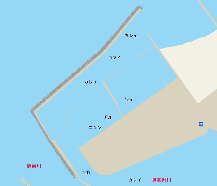 頓別漁港ポイント図