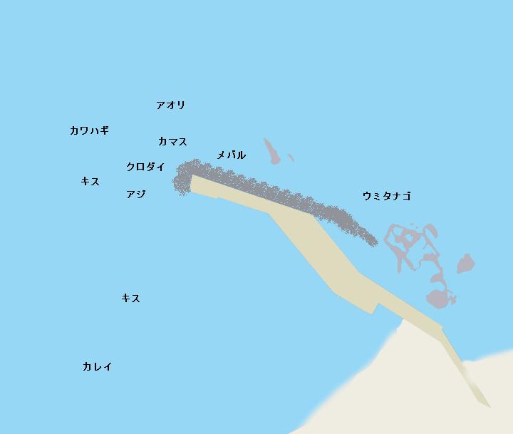 トンビ磯ポイント図