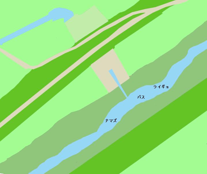 利根運河江川排水機場付近のポイント(野田市)