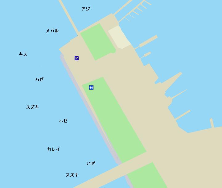 鳥居崎海浜公園ポイント図
