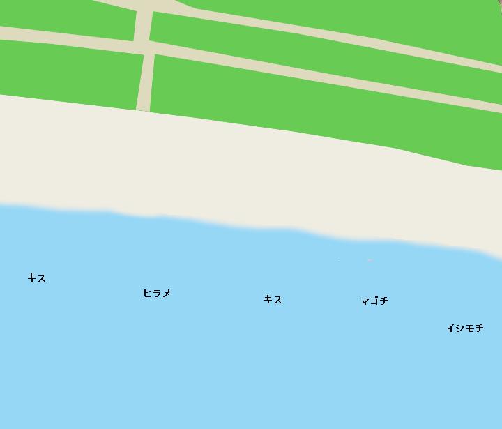 辻堂海岸ポイント図