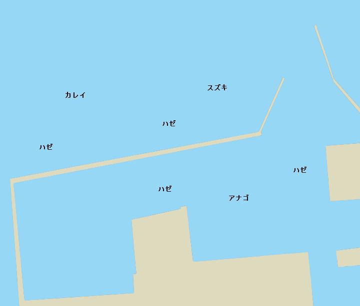 牛込港ポイント図