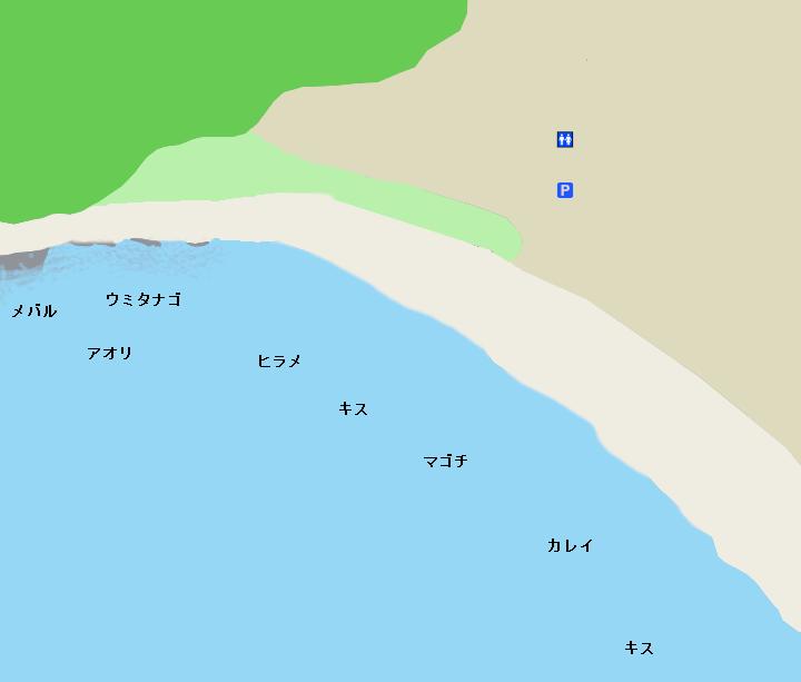 和田長浜海岸ポイント図