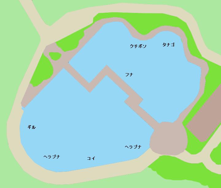 薬師沼親水公園ポイント図