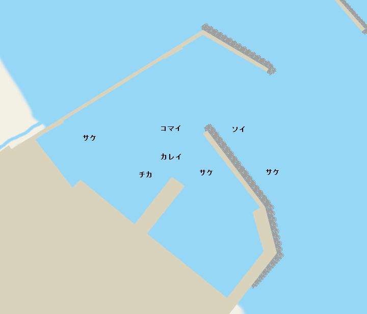 山臼漁港ポイント図
