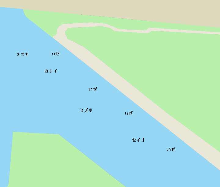 夢の島緑道公園ポイント図