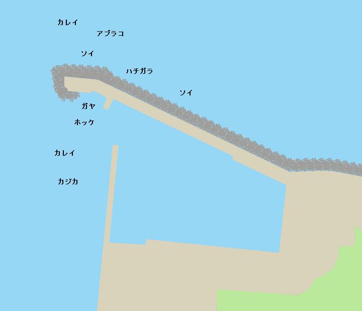有戸漁港ポイント図
