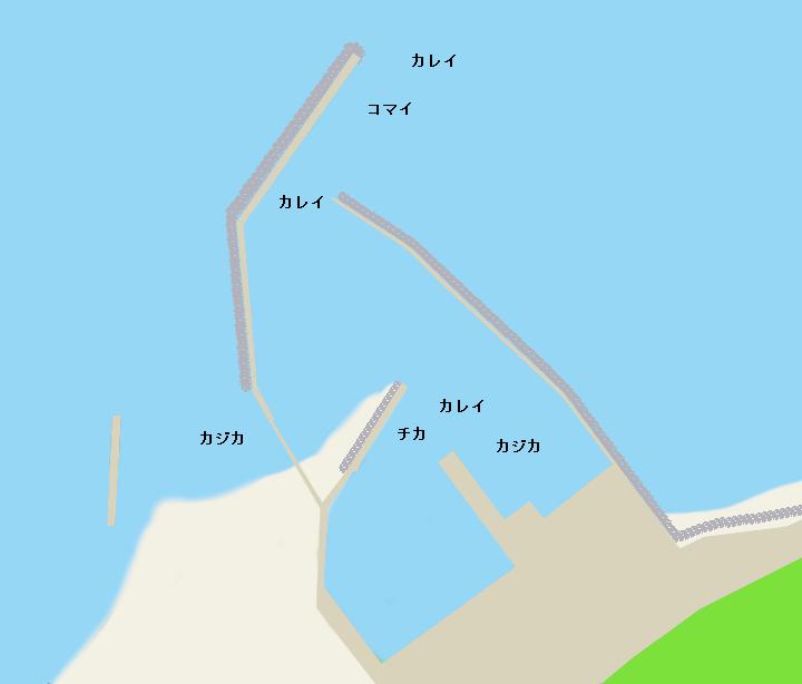 厚賀漁港ポイント図