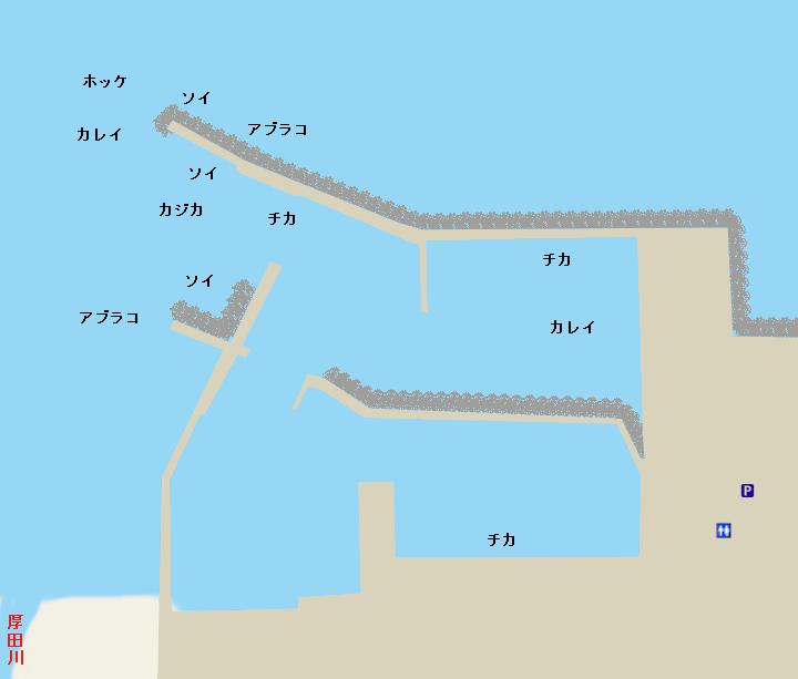 厚田漁港ポイント図