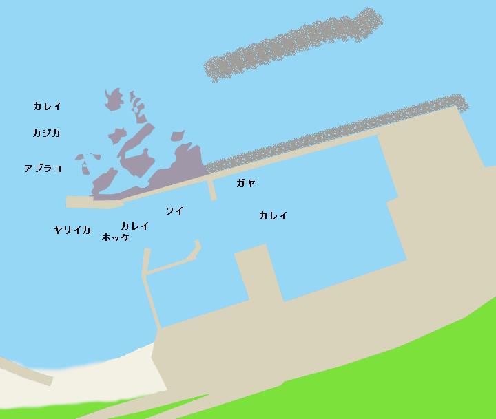厚瀬漁港ポイント図