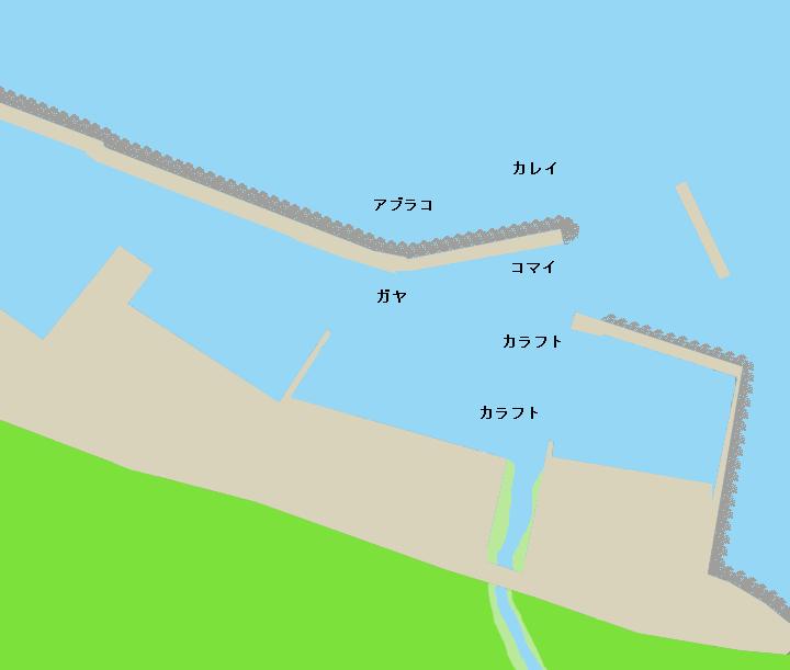 知円別漁港ポイント図