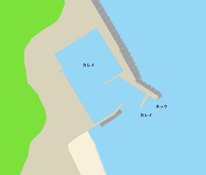 小砂子漁港ポイント図