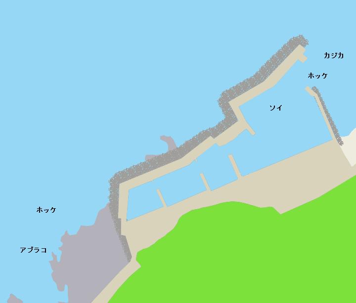 第二栄浜漁港ポイント図