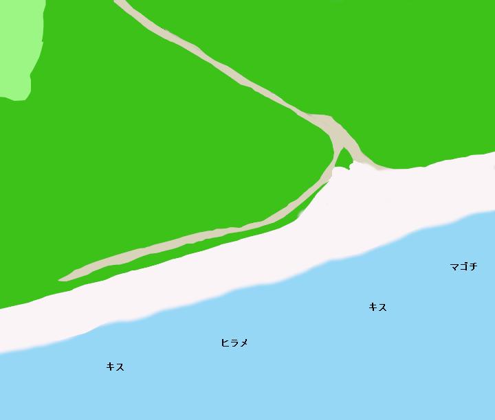百々海岸ポイント図